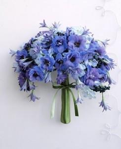 mavi-bahar-çiçekli-gelin-buketi