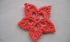 Şemalı Tığ İşi Çiçek Motifi Örneği