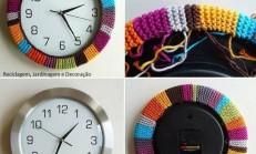 Dekoratif Örgü Saat Yapımı