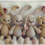 harika örgü tavşanlar