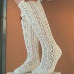 krem beyaz dantel kışlık çorap
