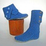 mavi düğmeli örgü çorap şeması