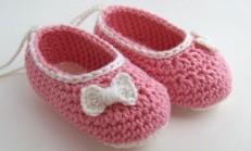 Tığ İşi Örgü Bebek Patik Modelleri