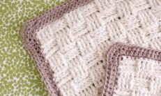 Sepet Örgü Tığ İşi Bebek Battaniye