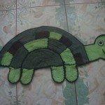 kaplumbağa figür paspas,