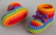 Tığ İşi Papatya Modeli Bebek Patik Örnekleri