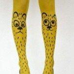 kedi-desenli-bayan-desenli-çorap-modeli