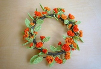 Kum Boncuktan Çiçek Örnekleri