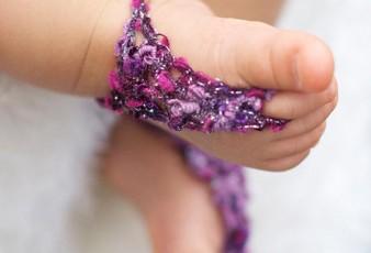 Parmak Arası Örgü Bebek Patikleri