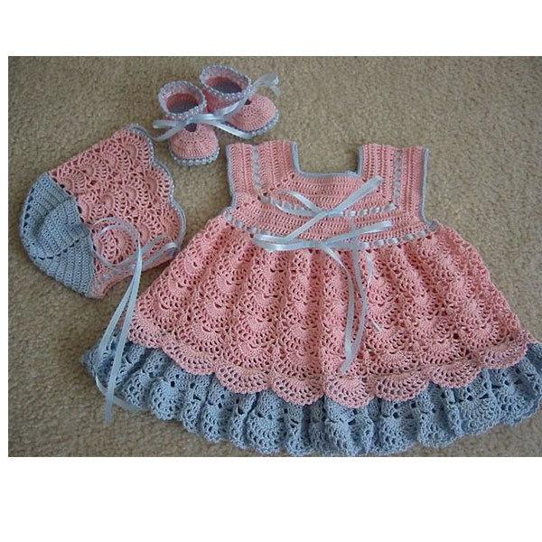 40dd4312e3830 Yazlık Tığ İşi Bebek Elbiseleri | Bayan Hobileri