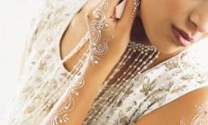 Gelinliklerde Beyaz Kına Modası