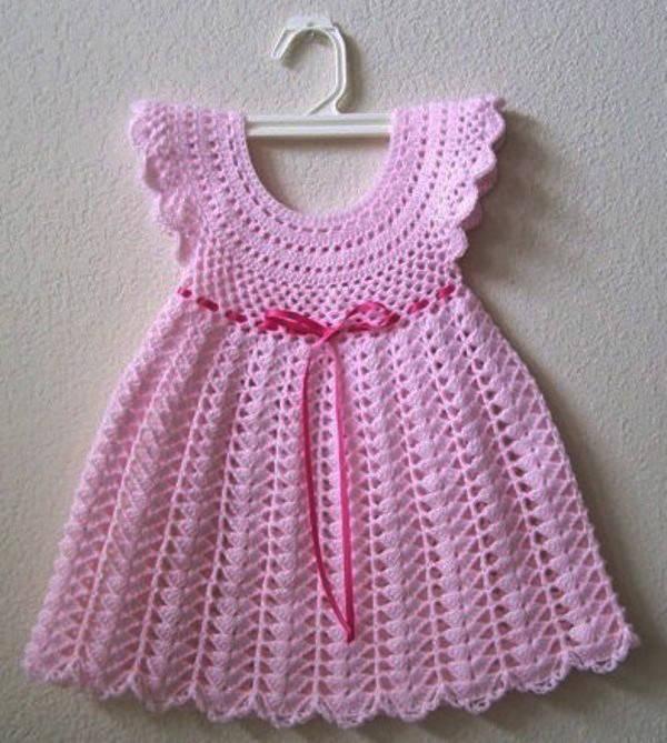 El Örgüsü Kız Bebek Kıyafeti