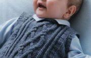 Erkek Bebek Örgü Süveter Modelleri